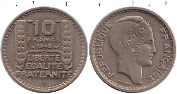 Картинка Монеты Франция 10 франков Медно-никель 1948