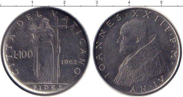 Картинка Монеты Ватикан 100 лир Сталь 1962