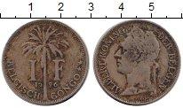 Изображение Монеты Бельгия Бельгийское Конго 1 франк 1926 Медно-никель VF