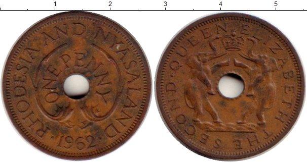 Картинка Монеты Родезия 1 пенни Бронза 1962