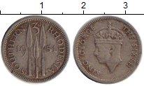Изображение Монеты Великобритания Родезия 3 пенса 1951 Медно-никель XF-