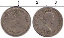 Изображение Монеты Великобритания Родезия 3 пенса 1956 Медно-никель VF