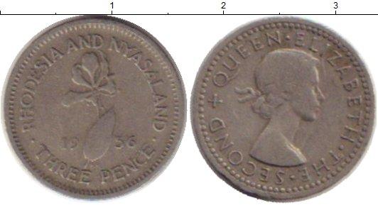Картинка Монеты Родезия 3 пенса Медно-никель 1956