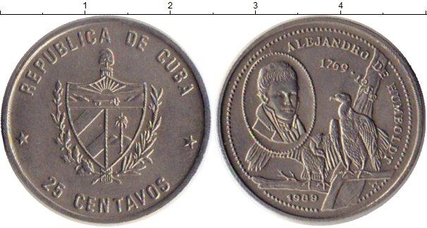 Картинка Монеты Куба 25 сентаво Медно-никель 1989