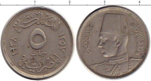 Картинка Монеты Египет 5 миллим Медно-никель 1938