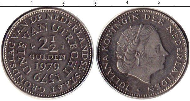 Картинка Монеты Нидерланды 2 1/2 гульдена Медно-никель 1979