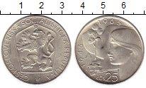 Изображение Монеты Чехия Чехословакия 25 крон 1965 Серебро UNC-