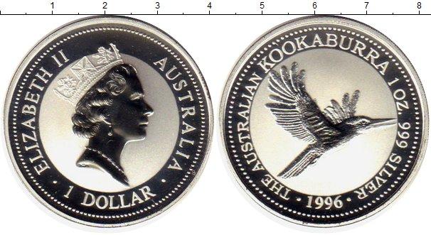 Картинка Монеты Австралия 1 доллар Серебро 1996