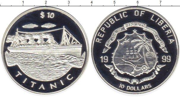 Картинка Монеты Либерия 10 долларов Серебро 1999