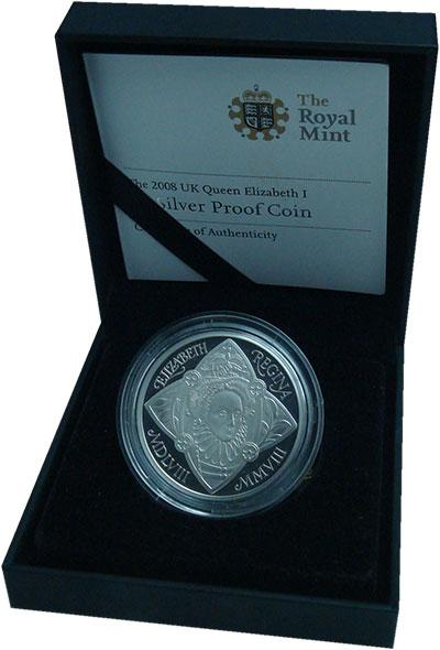 Изображение Подарочные монеты Великобритания 5 фунтов 2008 Серебро Proof-