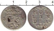 Изображение Монеты Нидерланды Голландия 2 стивера 1760 Серебро XF-