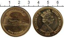 Изображение Монеты Гибралтар 5 фунтов 2010 Латунь UNC-