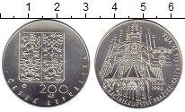 Изображение Монеты Чехия 200 крон 1994 Серебро UNC