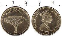 Изображение Монеты Гибралтар 1 фунт 2016 Латунь UNC-