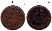 Изображение Монеты Камерун 50 сантим 1943 Бронза XF