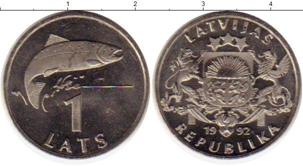 Картинка Монеты Латвия 1 лат Медно-никель 1992