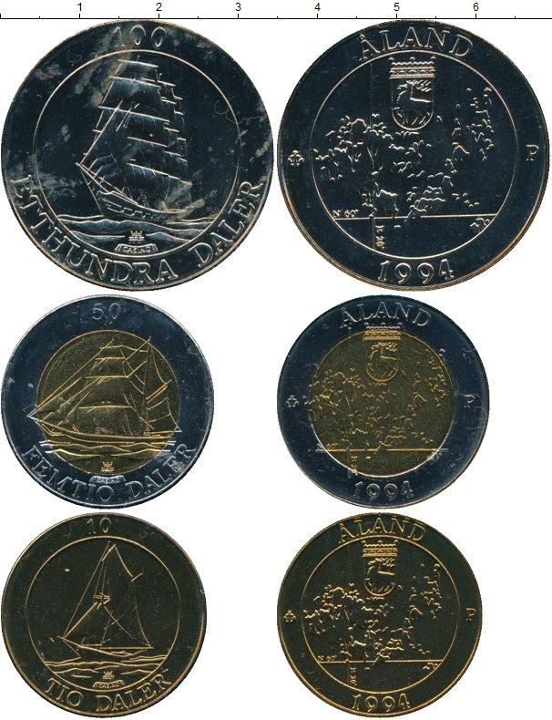 Картинка Подарочные монеты Финляндия Аландские острова  1994
