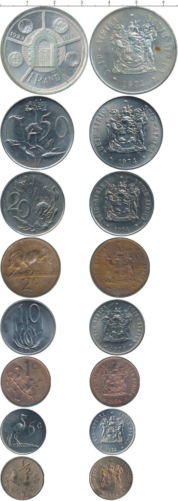 Картинка Наборы монет ЮАР ЮАР 74  1974