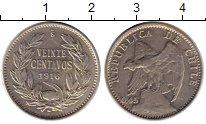 Изображение Монеты Чили 20 сентаво 1916 Серебро UNC-
