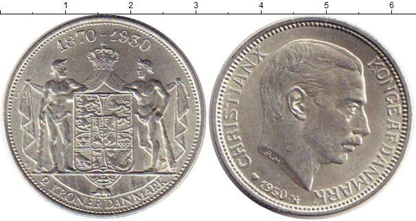 Картинка Монеты Дания 2 кроны Серебро 1930
