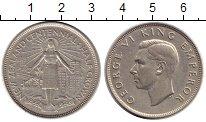 Изображение Монеты Новая Зеландия 1/2 кроны 1940 Серебро XF+