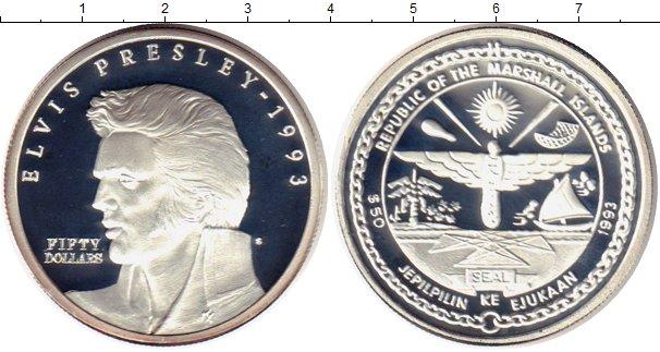 Картинка Монеты Маршалловы острова 50 долларов Серебро 1993