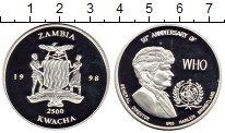 Изображение Монеты Замбия Медаль 1998 Серебро Proof-