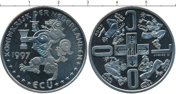 Картинка Монеты Нидерланды 1 экю Медно-никель 1997