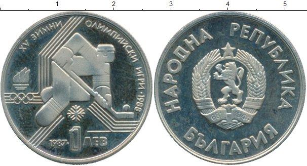 Картинка Монеты Болгария 1 лев Медно-никель 1987