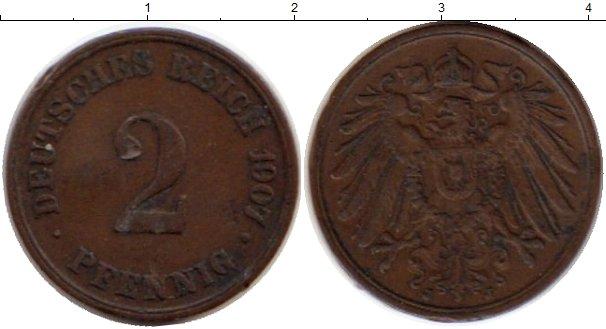 Картинка Монеты Германия 2 пфеннига Медь 1907