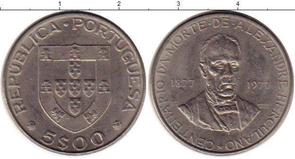 Картинка Монеты Португалия 5 эскудо Медно-никель 1977