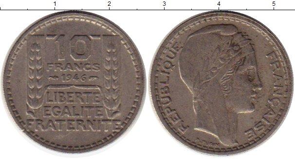 Картинка Монеты Франция 10 франков Медно-никель 1946