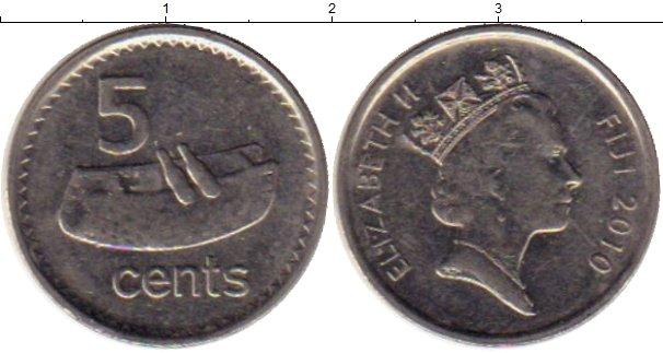 Картинка Монеты Фиджи 5 центов Медно-никель 2010