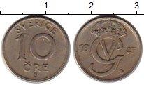 Изображение Монеты Швеция 10 эре 1947 Медно-никель XF
