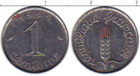 Картинка Монеты Франция 1 сантим Сталь 1969