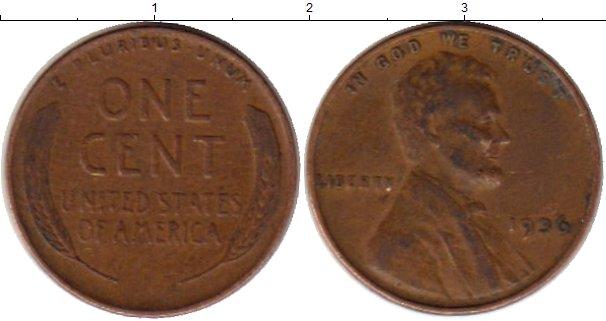 Картинка Монеты США 1 цент Бронза 1936