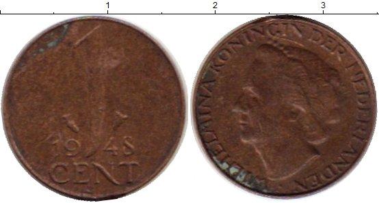 Картинка Монеты Нидерланды 1 цент Бронза 1948