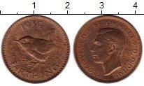 Изображение Монеты Великобритания 1 фартинг 1939 Бронза XF