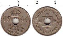 Изображение Монеты Великобритания Новая Гвинея 3 пенса 1944 Медно-никель XF