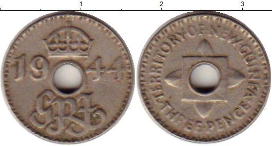 Картинка Монеты Новая Гвинея 3 пенса Медно-никель 1944