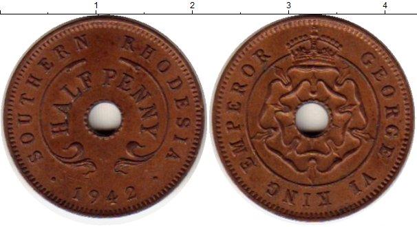Картинка Монеты Родезия 1/2 пенни Бронза 1942