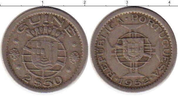 Картинка Монеты Гвинея 2 1/2 эскудо Медно-никель 1952