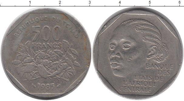 Картинка Монеты Чад 500 франков Медно-никель 1985