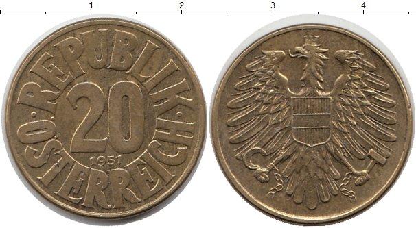 Картинка Монеты Австрия 20 грош Латунь 1951