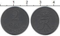 Изображение Монеты Дания 2 эре 1957 Цинк XF-
