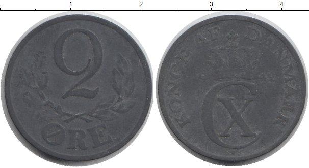 Картинка Монеты Дания 2 эре Цинк 1942