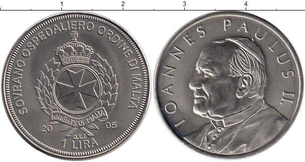 Картинка Монеты Мальтийский орден 1 лира Медно-никель 2005
