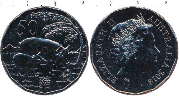 Картинка Подарочные монеты Австралия 50 пенсов Медно-никель 2019