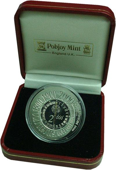 Изображение Подарочные монеты Остров Мэн 1 крона 2000 Серебро Proof- Елизавета II. Миллен