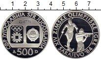 Монета Югославия 500 динар Серебро 1983 Proof- фото